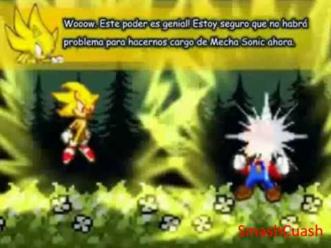 Super Mario Bros Z combates Equipo Mario VS Mecha Sonic VS Axem