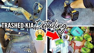 Complete Disaster Full Car Interior Detailing Transformation Series Ep. 15! Dirty Car Cleaning!