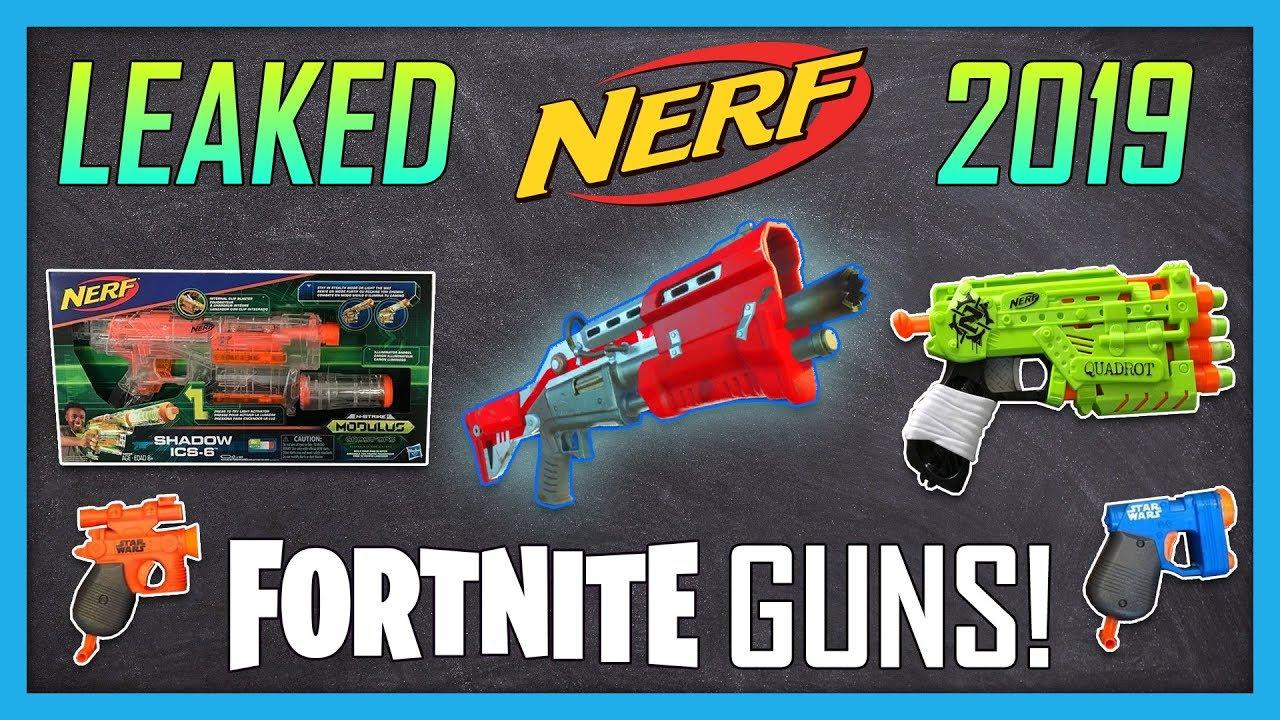 New Leaked 2019 Nerf Guns Fortnite Nerf Guns Shadow Rukkus