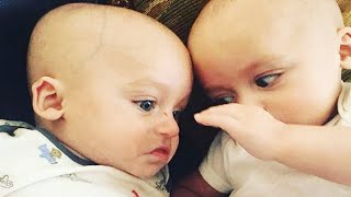 Funniest Twin Baby Videos that will make your whole day happy! - Cute Twin Baby Videos 2020