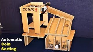 How to make a COIN Sorting Machine at Home - Electric