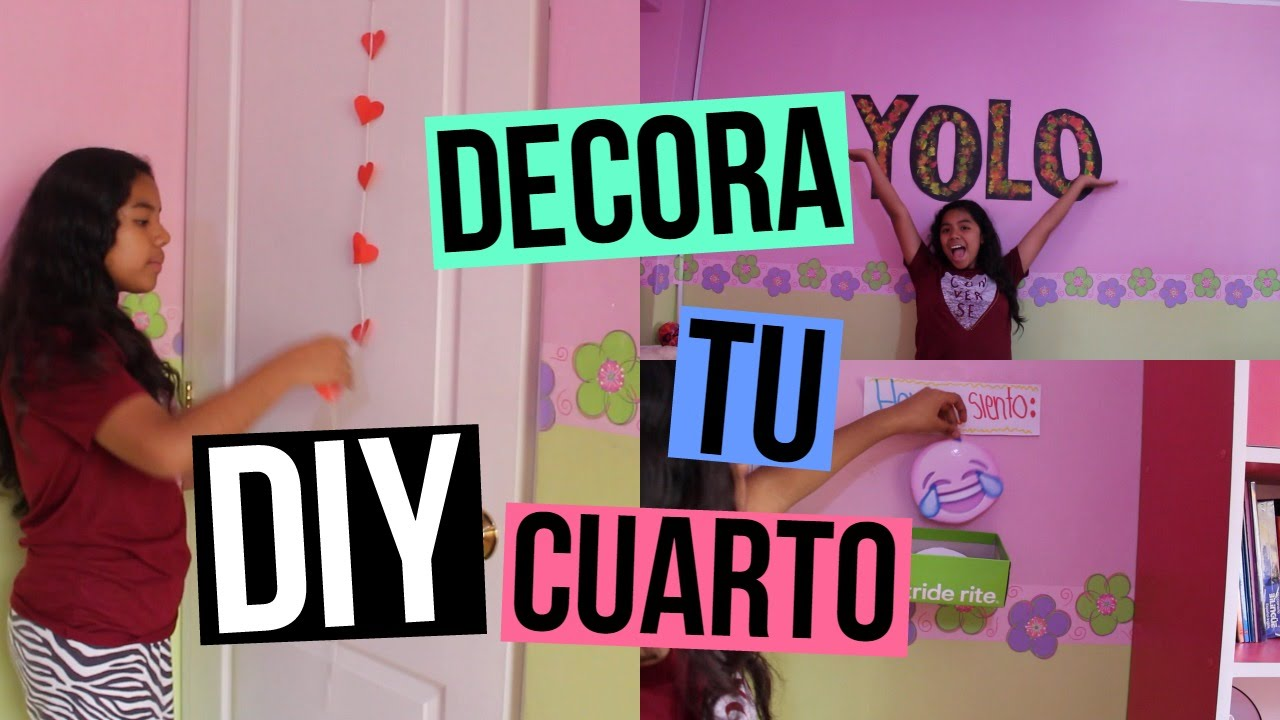 Diy decora tu cuarto johanna de la cruz youtube for Disenar tu habitacion online gratis