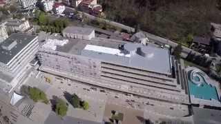 Rekonštrukcia hotela KRYM Trenčianske Teplice. Z vtáčej perspektívy