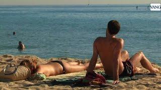 Las playas de Barcelona en octubre