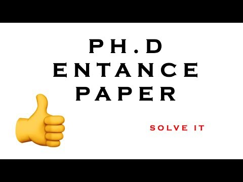 VTU PhD Entrance Exam Paper 2017 | VTU | Belagavi - YouTube