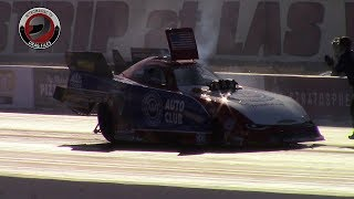 2017 NHRA Toyota Nationals @ LVMS (Part 7 - Nitro Funny Car Qualifying session 1 Highlights)