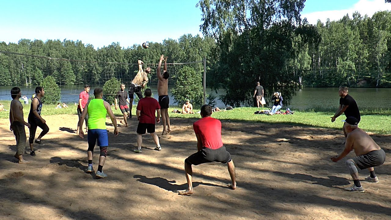 Первый волейбол после карантина.  Таджикистан и Россия.