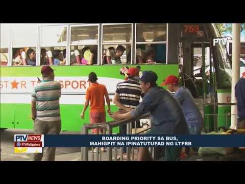Boarding priority sa bus, mahigpit na ipinatutupad ng LTFRB