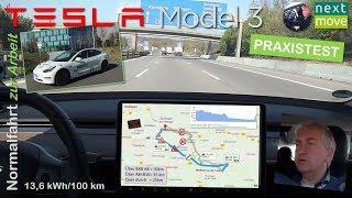 Tesla Model 3: Normalfahrt zur Arbeit (30km) im Praxistest | nextmove
