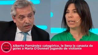 Alberto Fernández categórico, le llena la canasta de goles a O'Donnell jugando de visitante