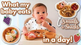 WHAT MY BABY EĄTS IN A DAY! 3 MEALS + SNACKS!