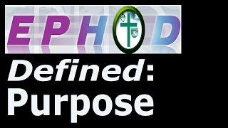 EPHOD 01 Purpose