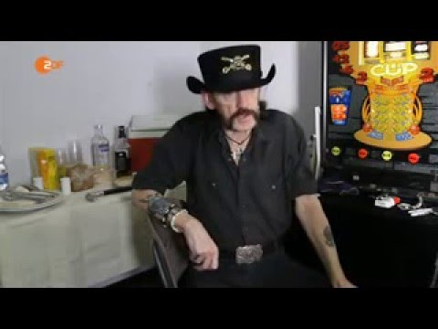 Last Interview Lemmy Kilmister about terror, no fear of death  and healthy drinking