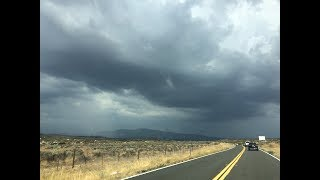 Storm chasing around Anza, CA on August 17, 2018. Weak rotation, an...