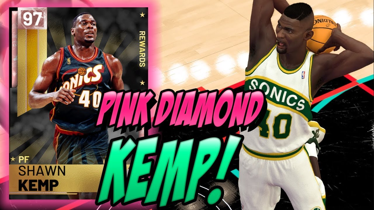 ca214c28be6 NBA 2K19 MYTEAM PINK DIAMOND SHAWN KEMP GAMEPLAY! HOW DOES THIS EVEN  HAPPEN!?