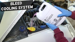 HOW TO BLEED THE COOLING SYSTEM ON PORSCHE CAYENNE