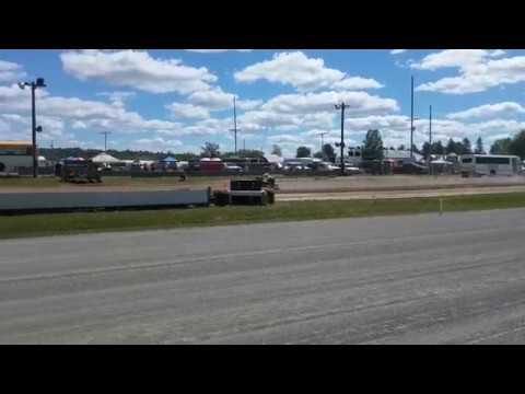 2017 Northern Maine Fair Snowmobile Drags - YouTube