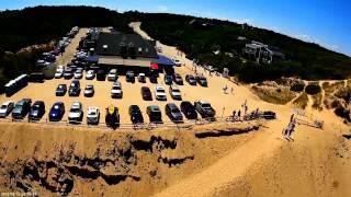 Beachcomber Wellfleet Cape Cod Fpv race quad flying around the beach mobius action cam