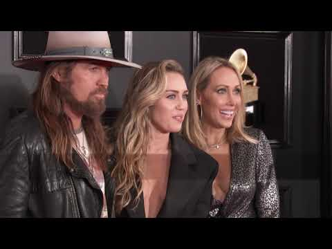 Miley Cyrus and Billy Ray Cyrus on the Red Carpet  2019 GRAMMYs