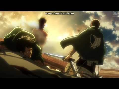 Attack on Titan Ep 22 進撃の巨人 - Throw them off the cart, abandon the bodies HD