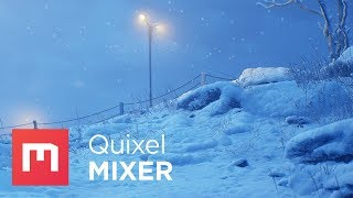 Realistic Snow in UE4 with Quixel Mixer