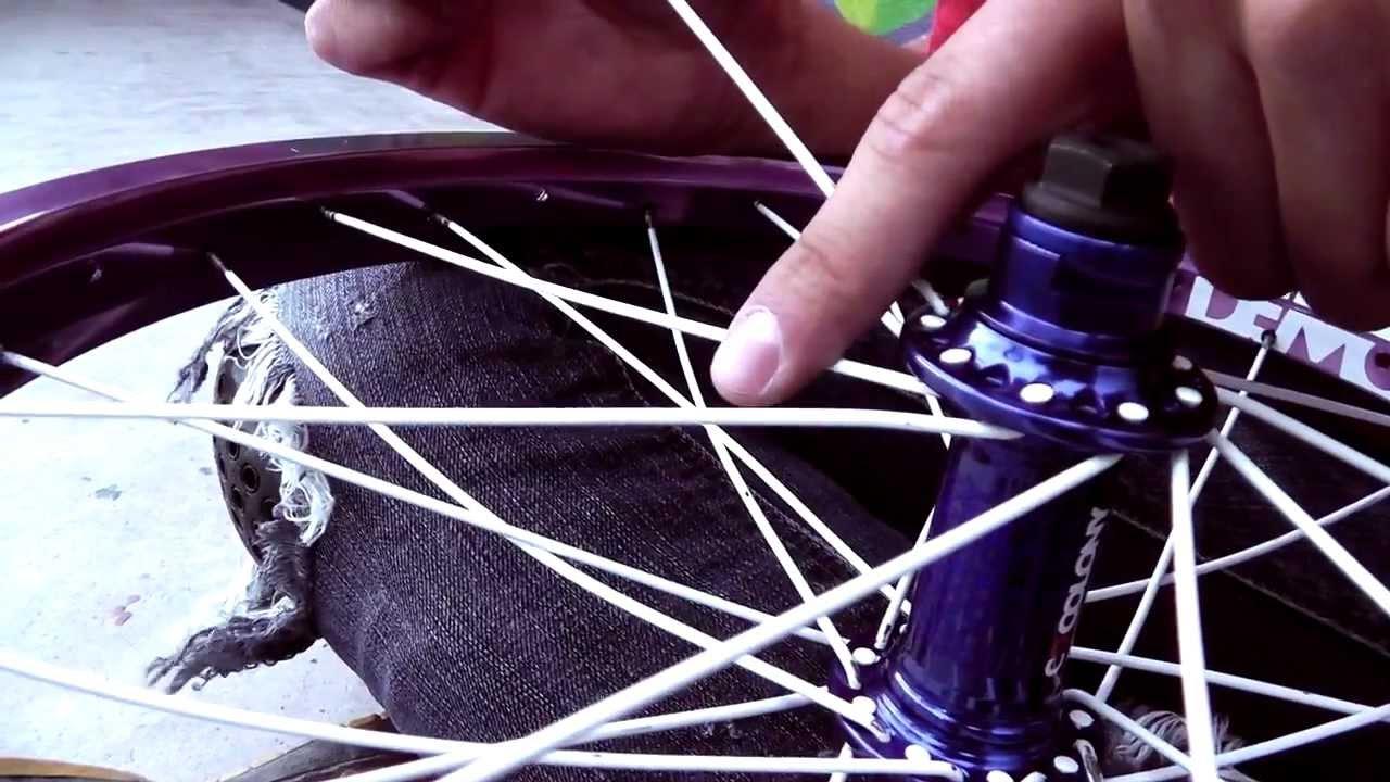 Como enrayar un rin de bmx how to lace a bmx wheel youtube - Como guardar bicis en un piso ...