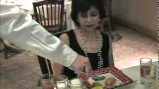 El servicio en un restaurante