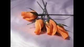 Бутон розы из гофрированной бумаги своими руками(Мастер класс от marishka ©Страна Мастеров Как сделать своими руками бутоны роз из гофрированной бумаги., 2015-06-27T12:58:39.000Z)