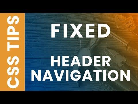 CSS Sticky Header - Fixed Navigation Menu Bar on Scroll