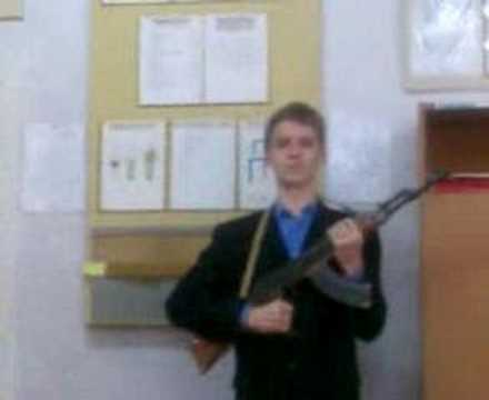Guy with AK at the school
