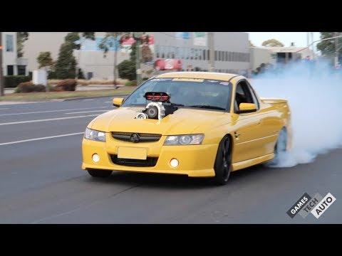 Holden Ute Massive Burnout At WestSide JDM Meet