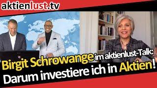 Moderatorin Birgit Schrowange im aktienlust-Talk: Darum investiere ich in Aktien!
