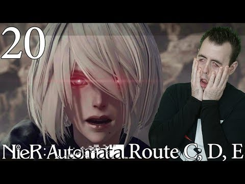 Route C, D, E Ending Reaction | Let's Play Nier Automata BLIND Playthrough -20- Walkthrough Gameplay