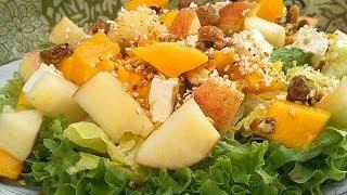 Receta De Ensalada Verde Surtida Con Mango Y Nueces / Green Salad Topped With Mango And Walnuts