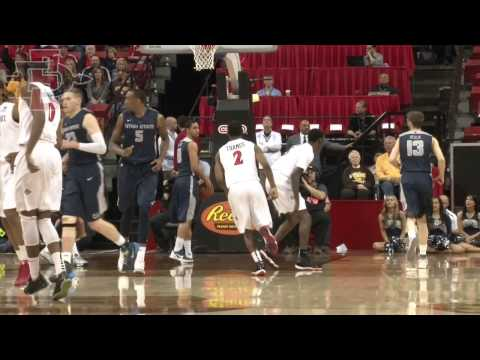 SDSU MEN'S HOOPS: #7 SDSU AZTECS 73, UTAH STATE 39 (MW QUARTERFINALS) - 3/13/14