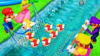 Super Mario Party - Minigames - Mario vs Wario vs Peach vs Waluigi