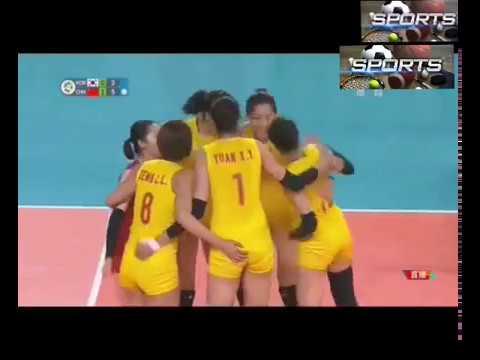 ASIAN GAMES WOMEN'S VOLLEBALL CHINA VS KOREA