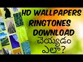 Gambar cover How to download hd wallpapers in mobile zedge app in Telugu