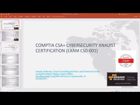 CompTIA Cyber Security Analyst (CSO-001) Exam Intro Exam Training Review csa casp security plus