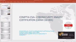 CompTIA Cyber Security Analyst (CSO-001) Exam Intro Exam Training Review csa casp security plus