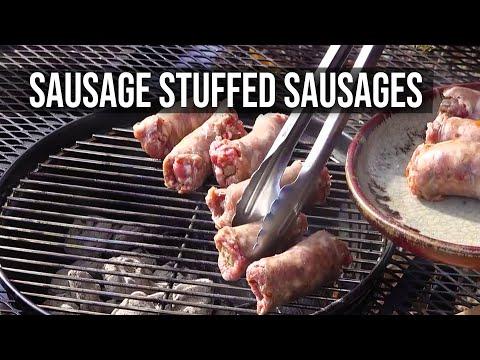 Sausage Stuffed Sausage Sub by the BBQ Pit Boys