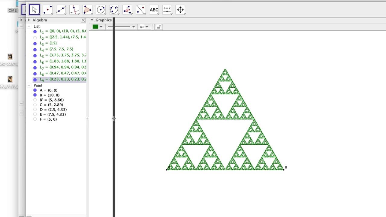 Geogebra Tutorial Sierpinski Arrowhead Fractal
