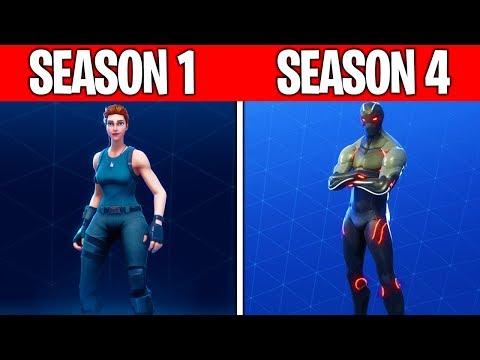 Evolution of The Fortnite Battle Pass (Season 1 - Season 4)