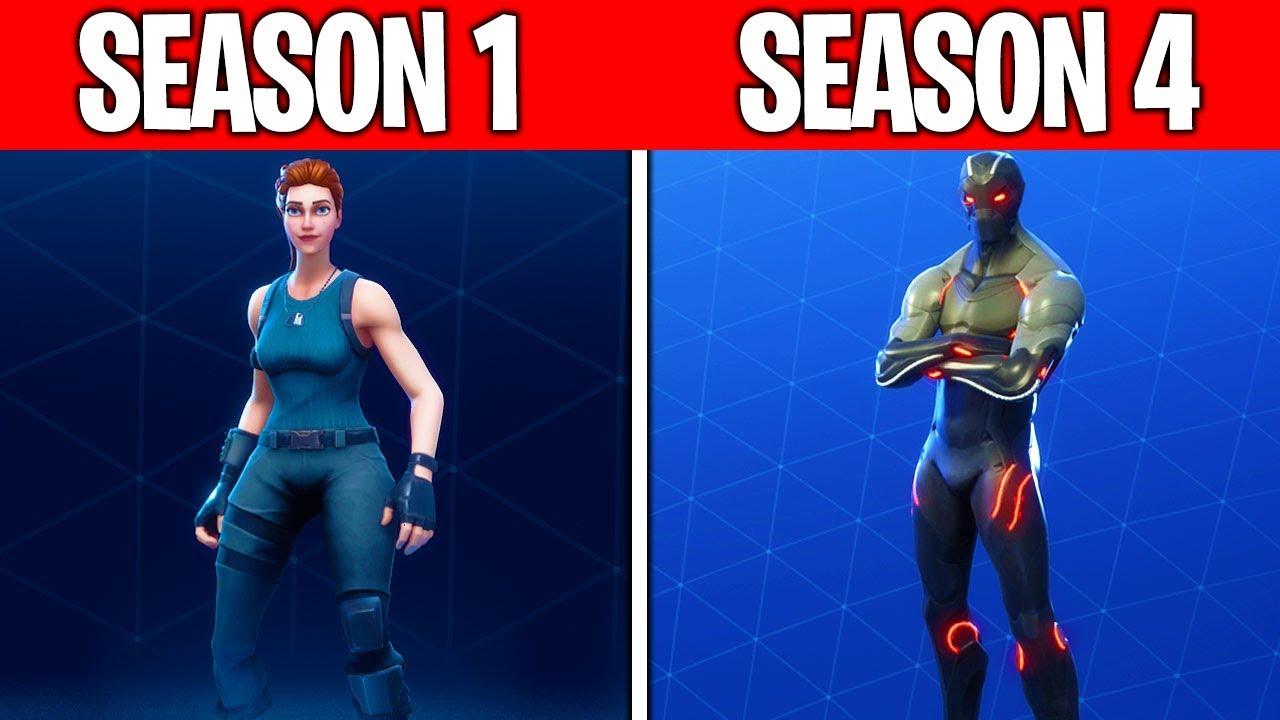 evolution of the fortnite battle pass season 1 season 4 - wie lange geht fortnite season 4