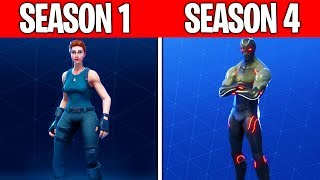 Evolution of The Fortnite Battle Pass (Saison 1 - Saison 4)