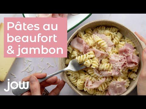 recettes-des-pâtes-au-beaufort-&-jambon