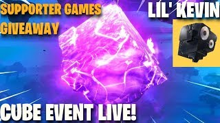 CUBE EVENT! Lil Kevin Challenges, giveaways & more! Fortnite Battle Royale
