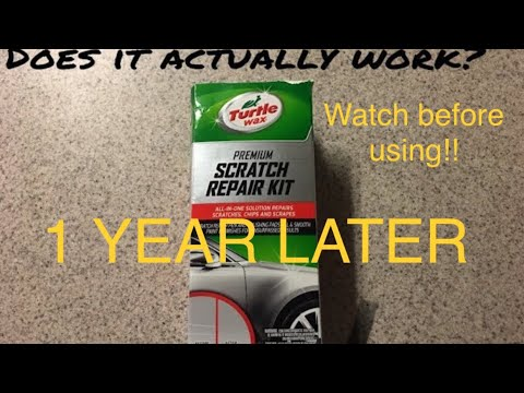 Scratch repair kit after 1 year… WATCH THIS BEFORE USING