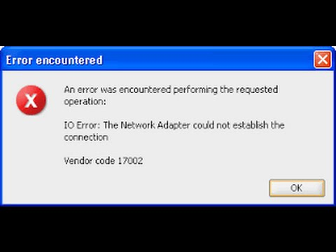 the network adapter could not establish the connection oracle
