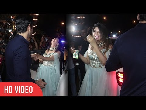 Divyanka Tripathi and Vivek Dahiya Funny Moment at Ekta Kapoor Diwali Party 2018